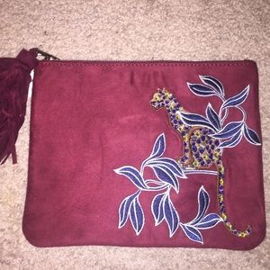 Embroidered clutch- Ann Taylor